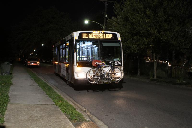 Amelia Slep-Patterson catches the 101 Algiers loop bus every morning around 5:30 a.m..
