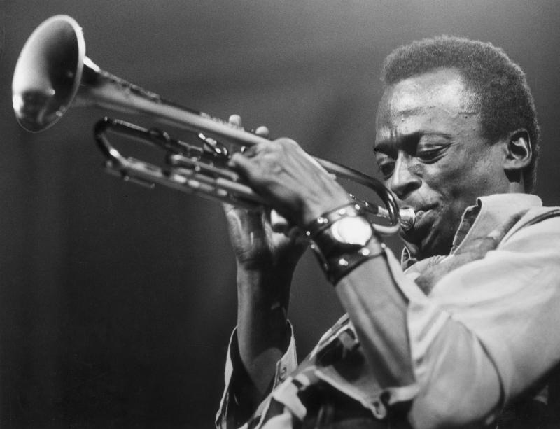 Hall of Fame jazz trumpeter and bandleader Miles Davis