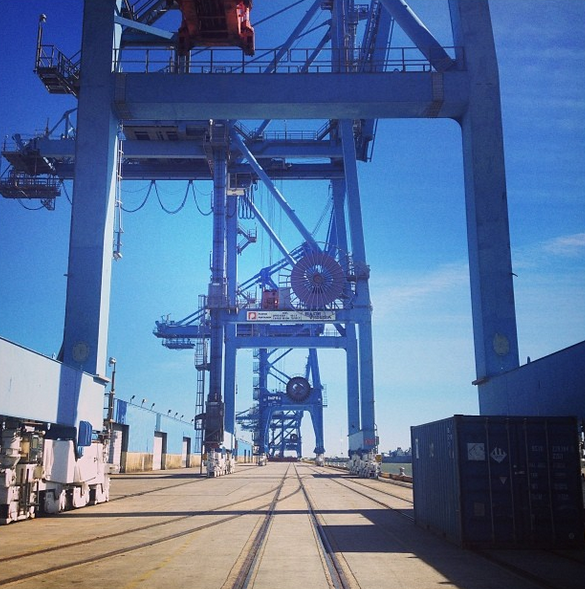 Cranes at the Port of New Orleans