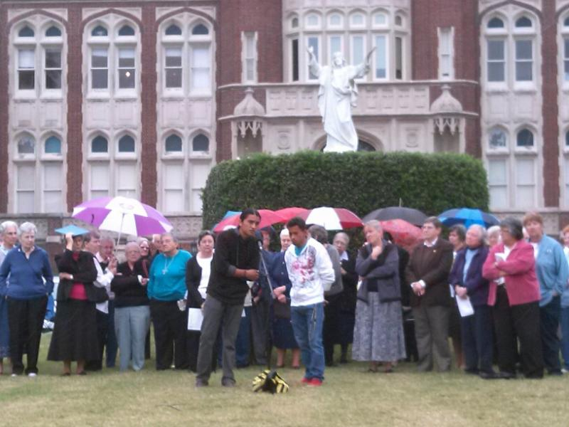 Catholic nuns held a rally at Loyola University in support of undocumented immigrants and immigration reform.