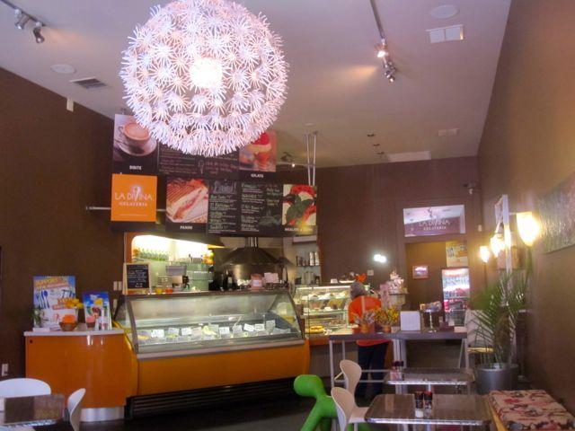 The Uptown cafe La Divina Gelateria worked eco-friendly practices into its business model from the start.