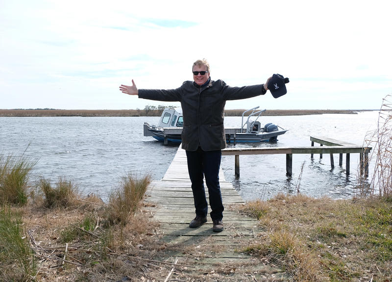 Tom Ashbrook, host of NPR's 'On Point', after a tour of the wetlands and flood protection structures surrounding New Orleans.