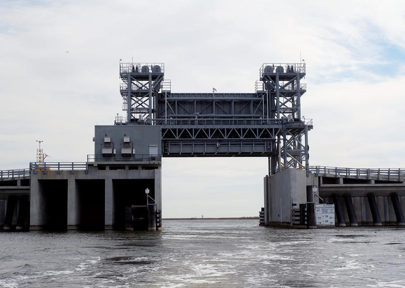 Lake Borgne surge barrier gate.