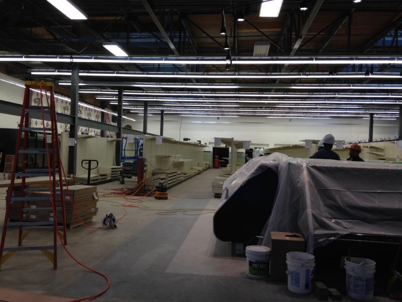 The interior of Circle Foods, under the final stages of construction.