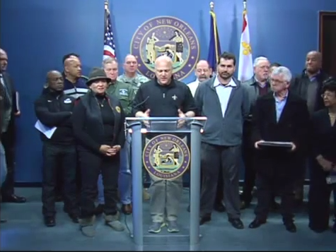City and emergency reponse officials update the public during a Wednesday morning press conference.