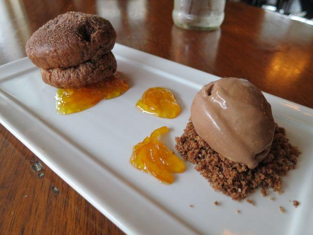 Chocolate and satsuma team on the Maurepas Foods dessert list.