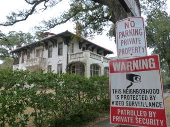 Richmond Place is one of three Uptown streets that are posted as private, but haven't been taxed. Assessor Erroll Williams is investigating whether the streets are indeed private.