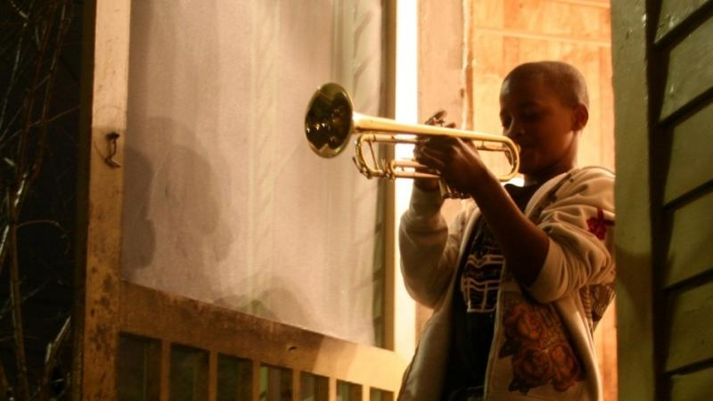 A scene from The Whole Gritty City, a new documentary on New Orleans school marching bands.