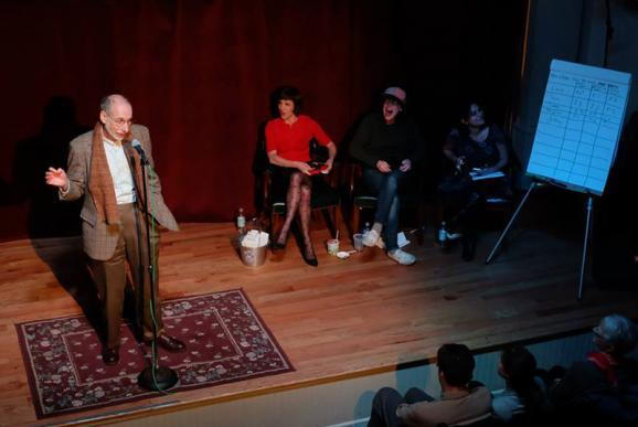 Anyone can participate at The Moth! Storytellers each get five minutes to tell their tale, and the best stories are aired on the radio. John Menszer told his story during the February event.