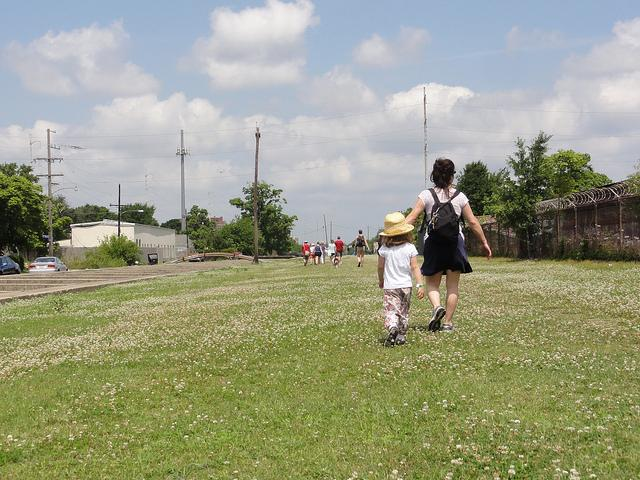 Hiking the Lafitte Greenway.