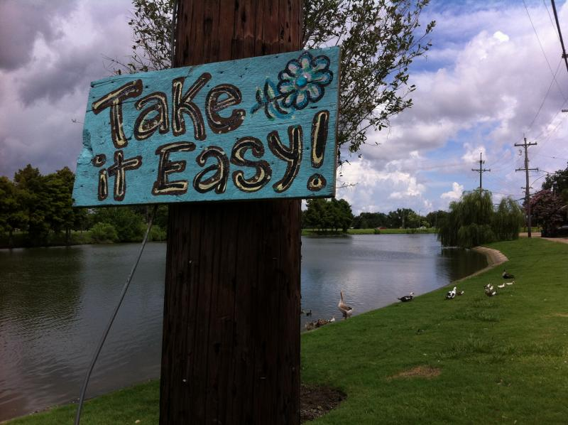 Citizens artists create their own street signs along Bayou St. John.
