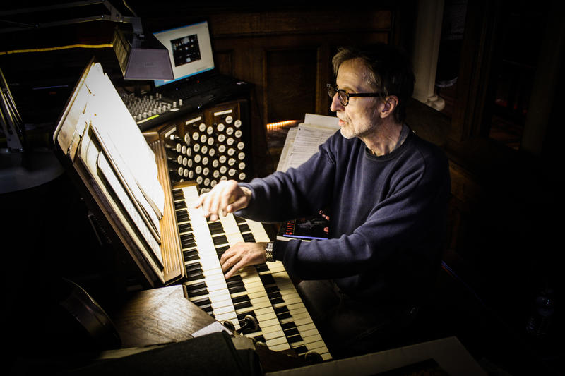 Albinas Prizgintas, who started the Bach Around the Clock festival, began working at the Trinity Episcopal Church in 1988.