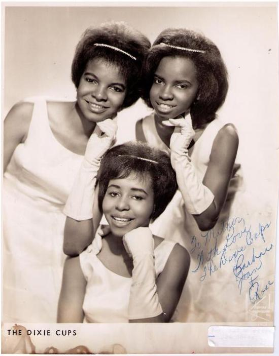 The original Dixie Cups: Barbara Ann and Rosa Lee Hawkins with Joan Marie Johnson.