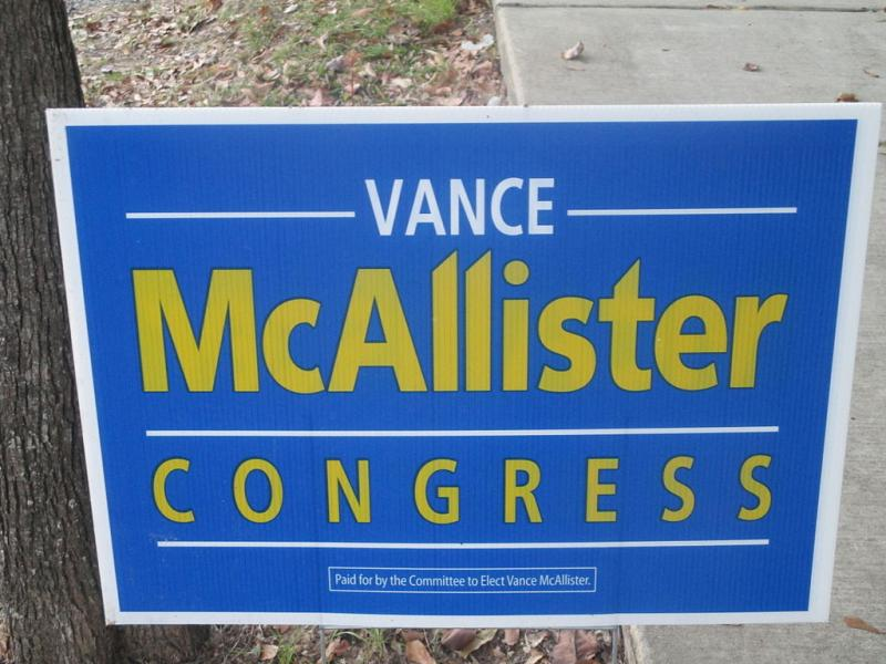 Rep. Vance McAllister won a special runoff election in 2013 for the seat vacated by fellow Republican Rodney Alexander.
