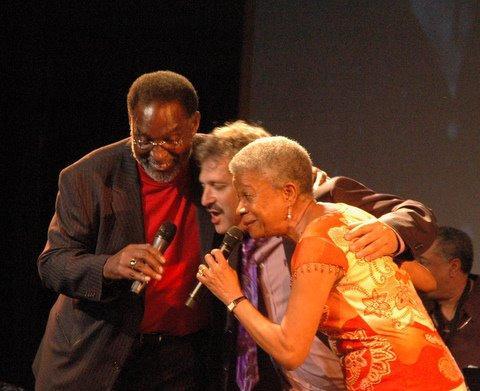 New Orleans singer and bassist George French with David Torkanowsky and Germaine Bazzle