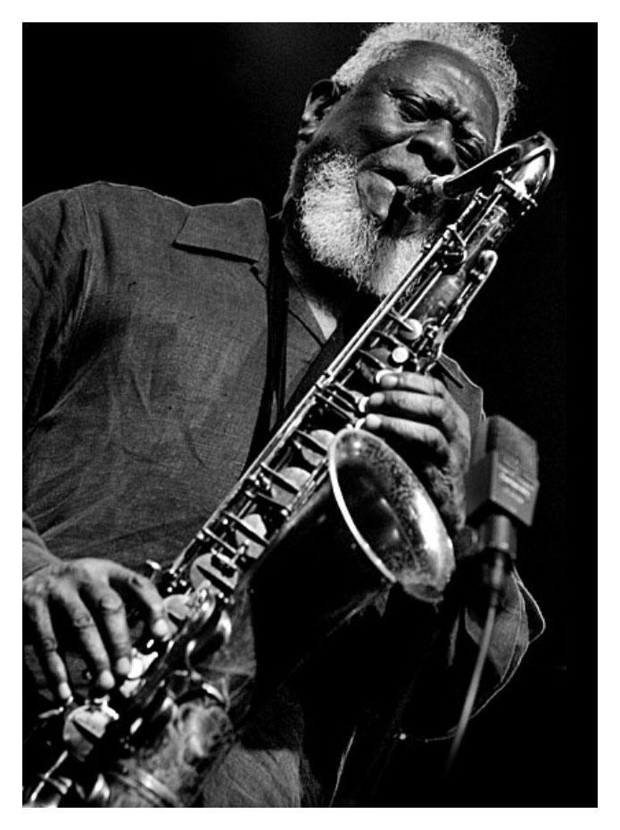Legendary saxophonist Pharoah Sanders.