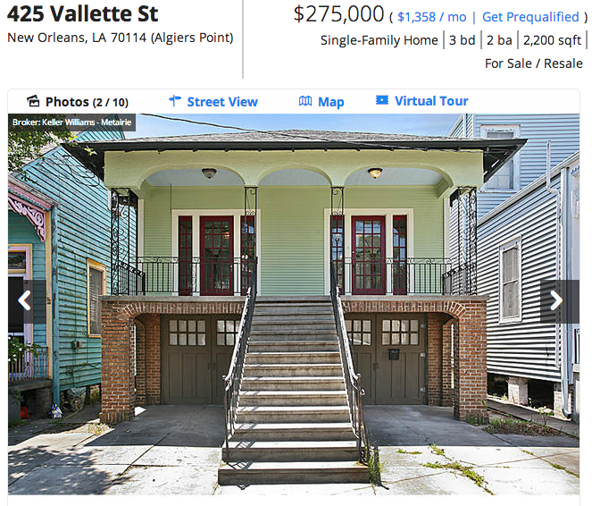 Housing costs in New Orleans have risen steadily over the past few years.