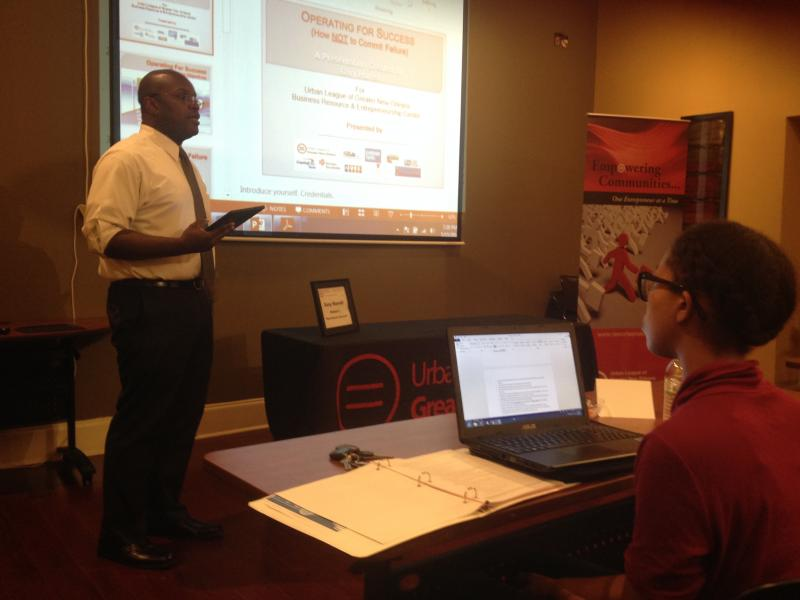 Gary Harrell teaches at the Entrepreneur Boot Camp
