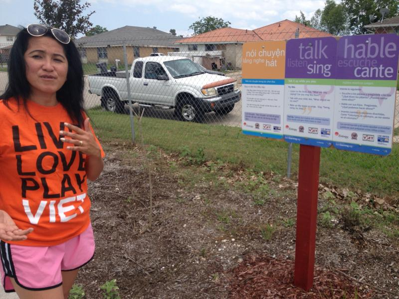 Cyndi Nguyen loves that the Born Trail encourages her to speak English and Vietnamese with her children.
