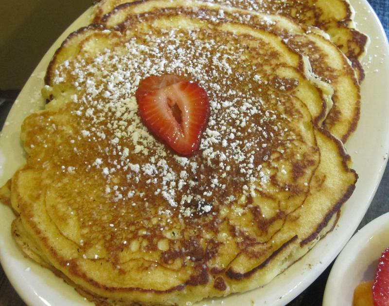 Pancakes were a pathway to conversation in this father-and-son relationship.
