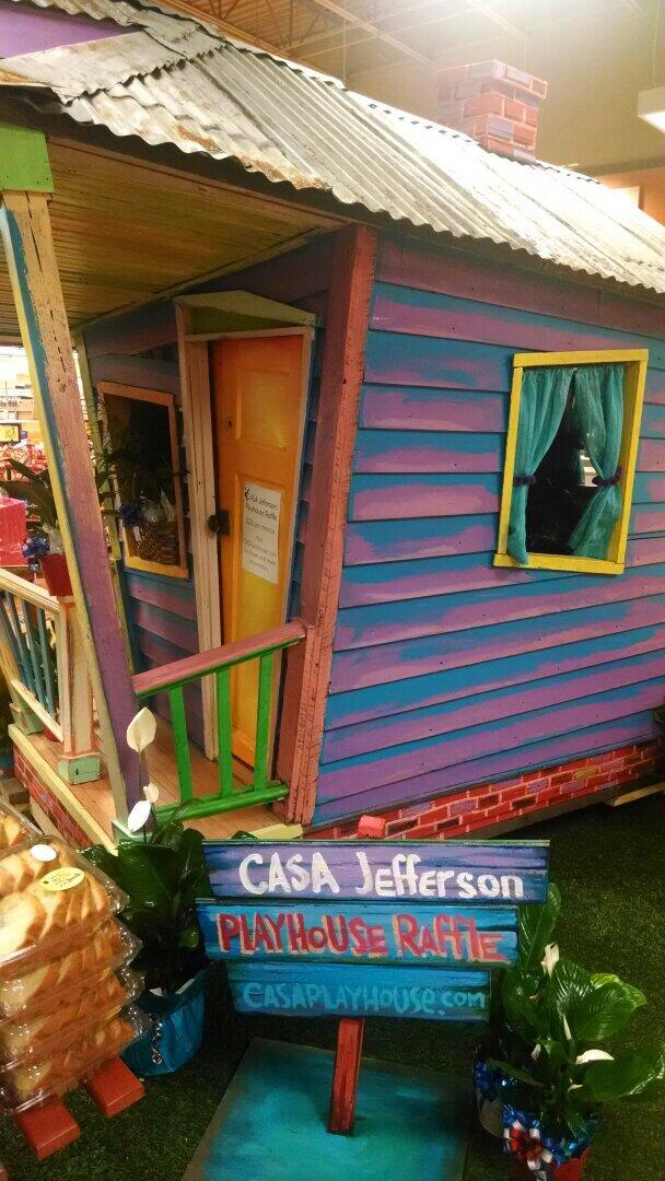 The CASA Jefferson Playhouse will be raffled June 20 to benefit the Court-Appointed Special Advocates program. It sits at the Winn-Dixie store on Carrollton Avenue until the winner is announced.