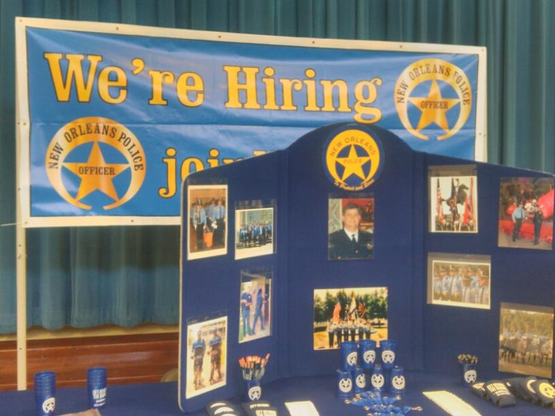 NOPD held a recruiting event to inform potential applicants about the variety of jobs available in the department.