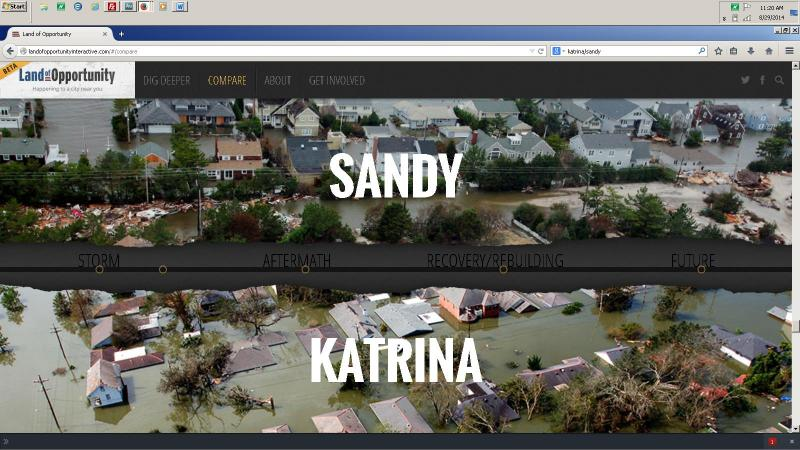 The Sandy/Katrina Platform Compares Experiences and Context of Disaster and Recovery