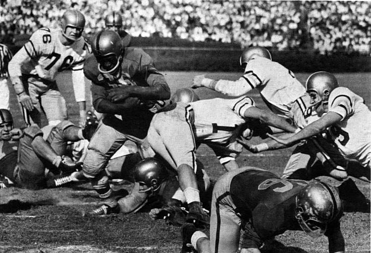 Bobby Grier was the leading rusher at the 1956 Sugar Bowl with nearly 100 yards.