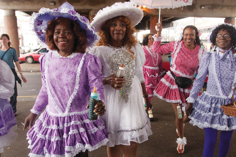 Antoinette K-Doe, left, resurrected a Baby Dolls club in 2003.