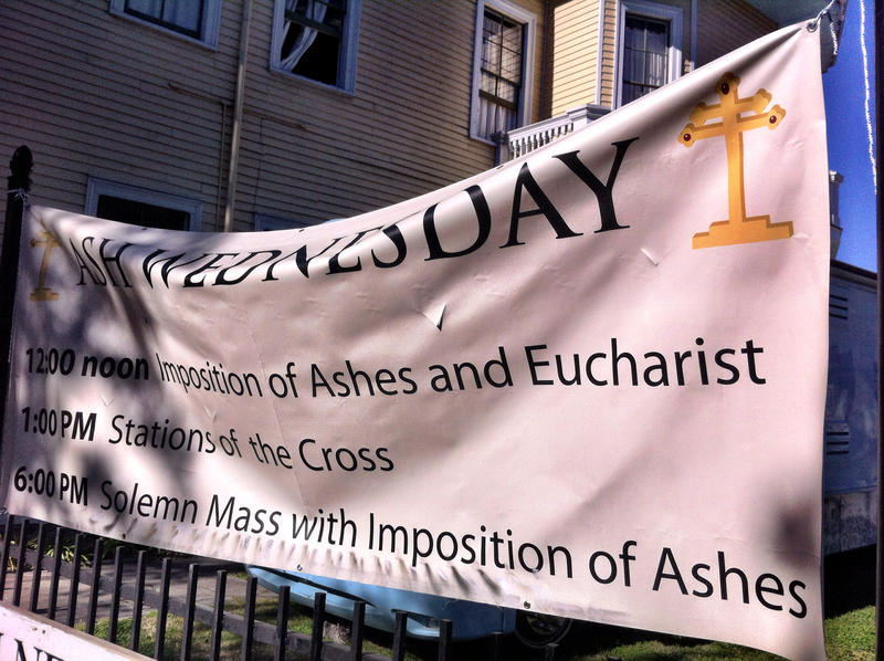 Many in New Orleans attend Ash Wednesday services the day after Mardi Gras.