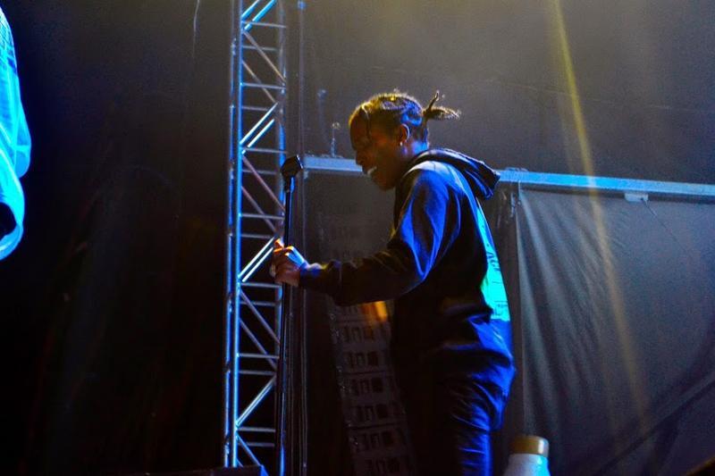 A$AP Rocky greets his fans.