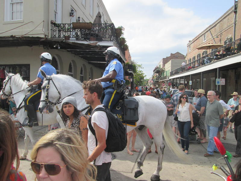 Mounted police in the French Quarter