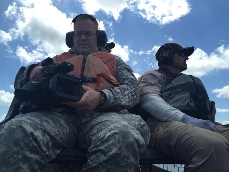 The Louisiana National Guard PR team.
