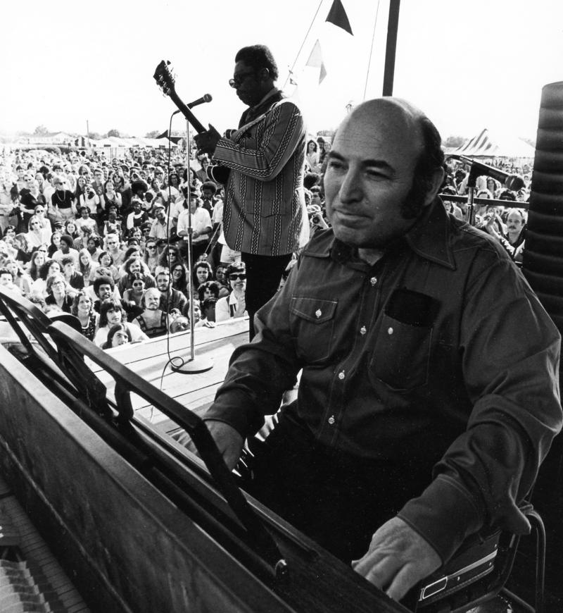 George Wein, seated, worked with different music experts to guarantee that the Jazz Fest lineup was stylistically diverse.