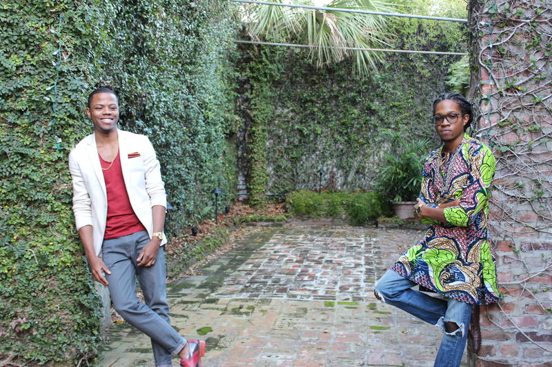 Derrius Quarles (L) and Ras Asan (R) co-founded the education funding startup Million Dollar Scholar, based in New Orleans.