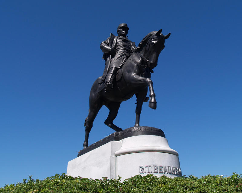 A statue of Confederate General P.G.T. Beauregard is one of four monuments New Orleans Mayor Mitch Landrieu has said should be replaced.