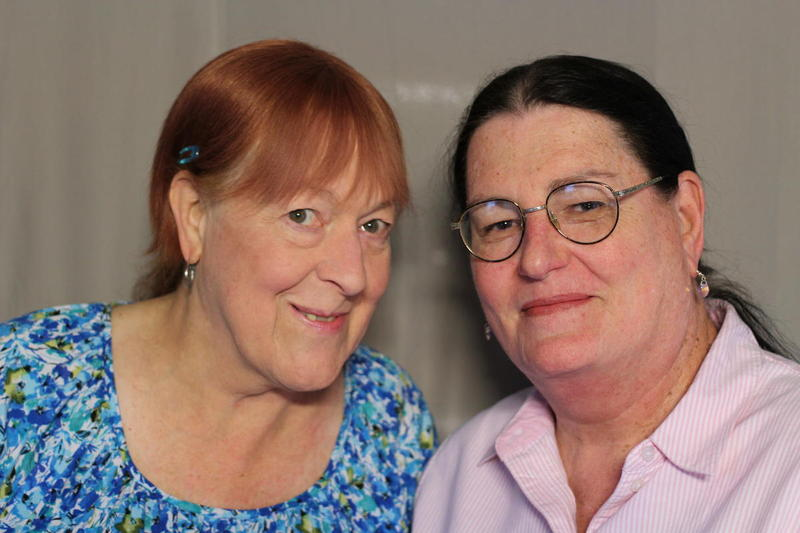 Donna Jean Loy, left, and Elizabeth Anne Jenkins, right, participate in several activist groups, including Louisiana Trans Advocates and Equality Louisiana.