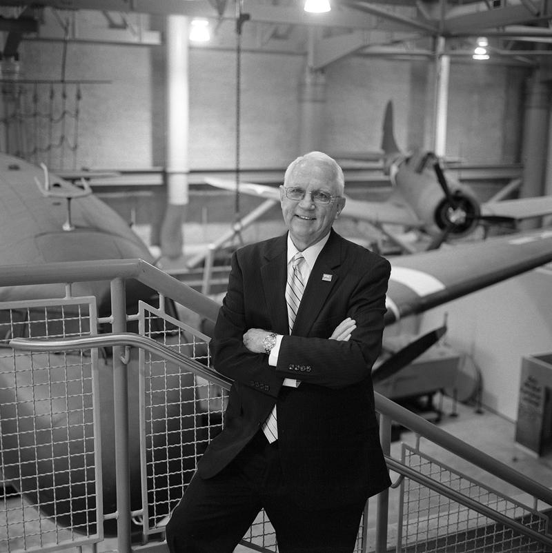 """Gordon """"Nick"""" Mueller became chairman of the non-profit organization that runs the WWII Museum in 1998."""