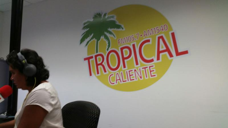 Honduras native Brenda Murphy hosts a daily morning show for the Latino community on Radio Tropical Caliente