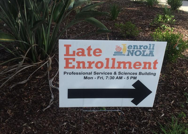 Wednesday kicks off late enrollment for most New Orleans public schools.