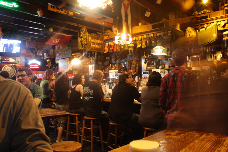 The interior of Molly's at the Market, one of 100 bars profiled in The French Quarter Drinking Companion.