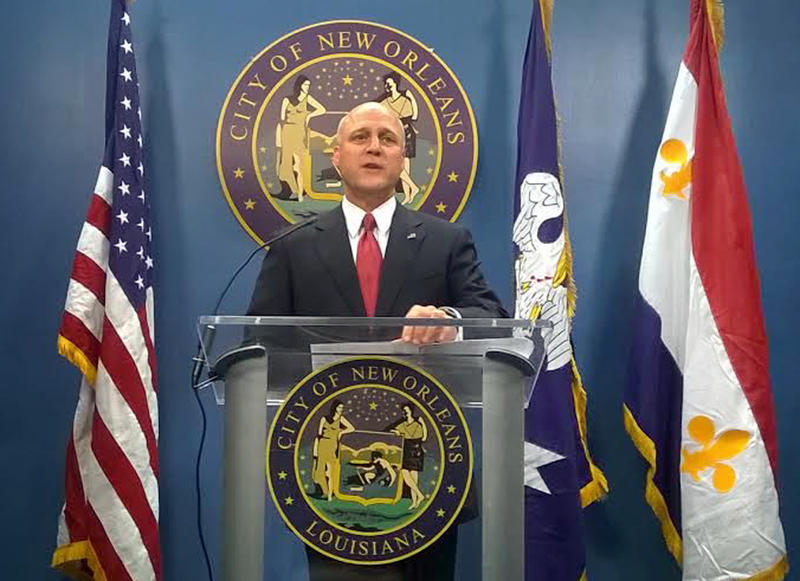 Mayor Mitch Landrieu, at Friday's press conference.