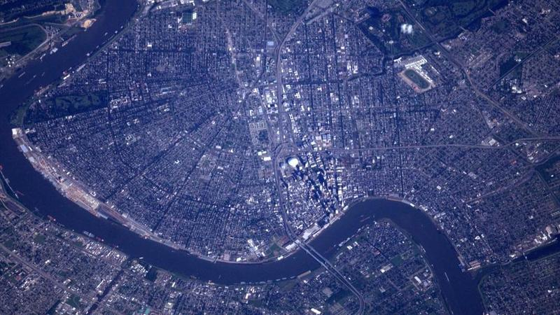 New Orleans from the International Space Station.