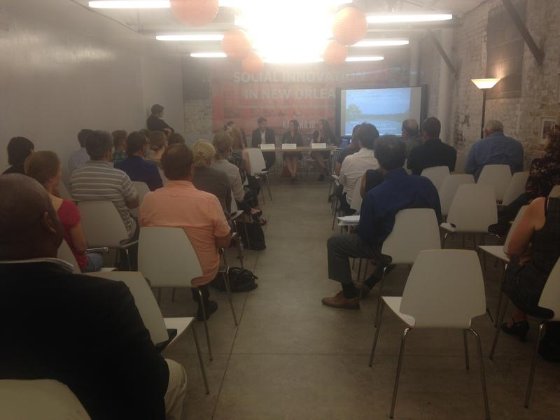 Entrepreneurs and businesspeople met at the New Orleans business incubator Propeller on Thursday night to learn about how they can help restore the coast.