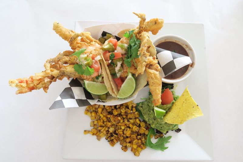 Soft shell crab tacos at Sun Ray Grill, a neighborhood eatery in Gretna.
