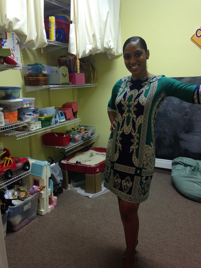 Counselor Earniesha Lott uses play therapy to help her clients tell their stories.