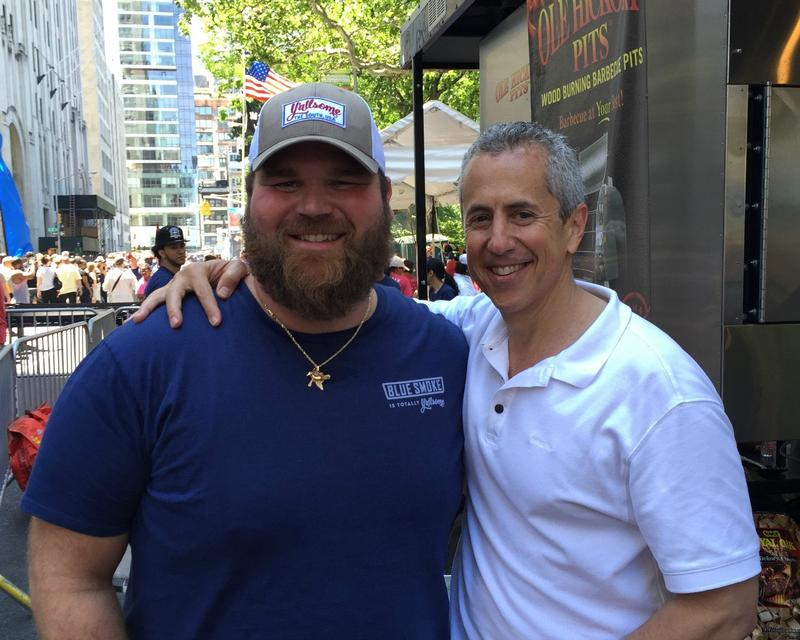 Thibodaux-born Chef Jean-Paul Bourgeois and hospitality guru Danny Meyer at the 2015 Big Apple Barbecue Block Party.