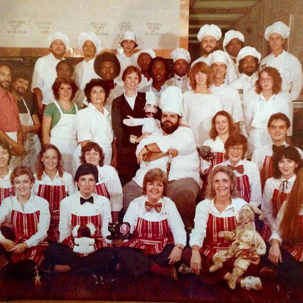K-Paul's Louisiana Kitchen staff photo, 1981.