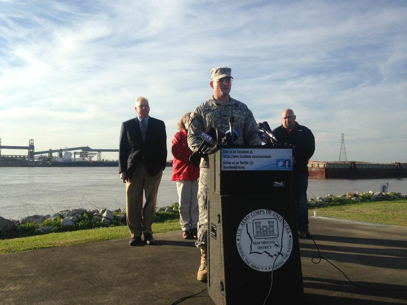 Colonel Rick Hansen, commander of the Army Corps of Engineers New Orleans District,  says it's time to open the Bonnet Carre Spillway in order to divert floodwaters and protect New Orleans.