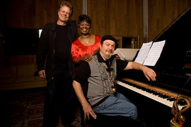 Producer Scott Billington, with Irma Thomas and Dr. John.